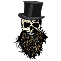 Kopf des Todes Hipster Bart Bart Totenkopf Ring Nase