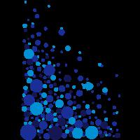 Wasserblasen mit Fisch - 3 Farb Vektor