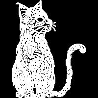 Katze Tribal weiss