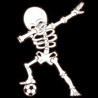 Dabbing Skelett Fussball T-Shirt Soccer Skeleton
