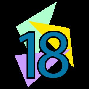 achtzehnten Geburtstag 18 Jahre Dreiecke