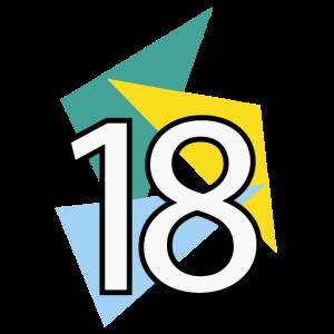 18 Jahre wünscht Dreiecke