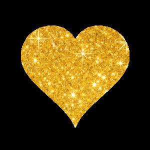 Goldenes Herz Liebe Valentinstag Paar Geschenk