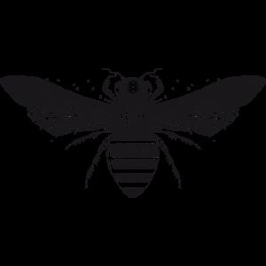 kunstvoll gestaltete Biene