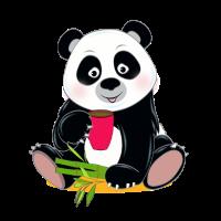 Panda mit Kaffee Geschenk Cartoon Kawaii