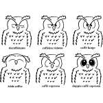 Eulen Koffein-Chart