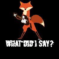 Lustiger Fuchs Fox spielt Gitarre Musiker Geschenk