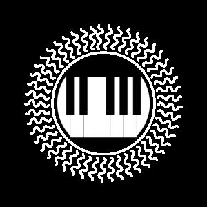 Ich liebe mein Keyboard Piano Tasten Klavier