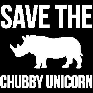 Speichern Sie Rhinos Chubby Einhorn Geschenk T-shirt