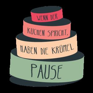 Spruch Chef Kuchen Krümel Redewendung frech lustig