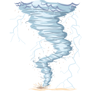 Wetter Tornado Windhose Sturmjäger cooles Design