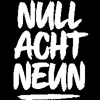 NULL ACHT NEUN Pinselstrich