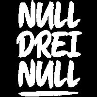 NULL DREI NULL Pinselstrich