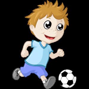 Kleiner Fußball Junge