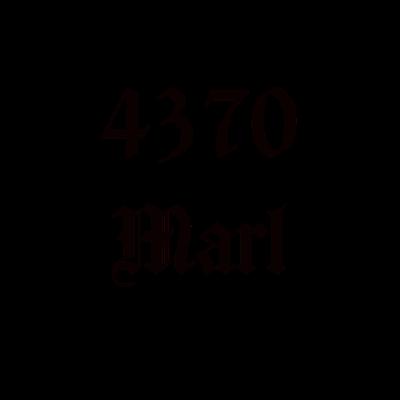 4370 Marl schwarz - 4370 Marl. Die alte Postleitzahl aus Marl. Für alle Marler. Gut auch als Geschenk. Zeige, dass du im Ruhrgebiet geboren bist! - Ruhrgebiet,Geschenkidee,Marler,Marl,Geschenk,Ruhrpott,4370