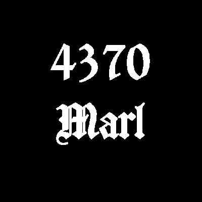 4370 Marl Weiss Alte Postleitzahl - 4370 Marl Die alte Postleitzahl aus Marl. Für alle Marler. Gut auch als Geschenk. - Marler,Marl,Idee,Geschenkidee,Geschenk,4370