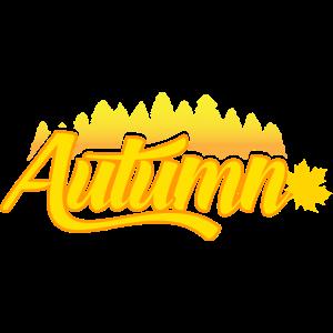 Herbst Geschenk Jahreszeit Blatt Wald Gold