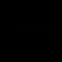 schwarzes Display-Logo