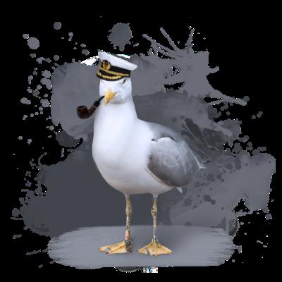 Coole Seemöwe, Maritim, Ostsee, Nordsee - Maritime Coolness mal anders! Der coole Seemöwen-Opi hat charakteristische Falten, coole Tattoos und die Pfeife darf auch nicht fehlen! Diese Möwe erzählt pausenlos in der Eckkneipe seine Geschichten - Lustig,Ostsee,Stralsund,betrunken,usedom,Möwe,seemann,Schwerin,Rostock,Pfeife,Seemöwe,cool,Lübeck,Nordsee,Style,Maritm,kapitän,Kunst,Coolness,Rügen,Flensburg,Wismar,Tattoo,Hamburg,Kiel