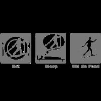 Lauf essen schlafen Spiel