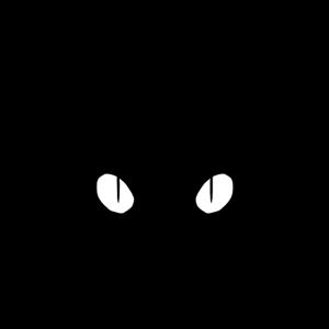 Ocelot Lineart in Schwarz und Weiß
