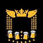 85 Bräutigam Begleit-Service Bier Krone Flügel