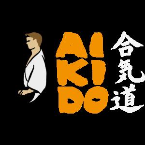 Aikido Seiza - Farbiger Hintergrund -