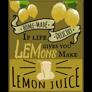 Zitronen Limonade Vintage Plakat lustiger Spruch