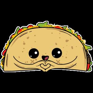 Taco Liebe - Süßer Taco Mexikanisches Essen Fiesta