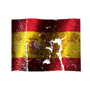 Spanien Flagge cooler Vintage used Sport Style