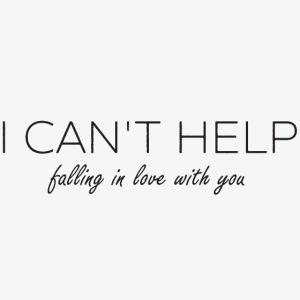 I Can't Help - Slogan Tee