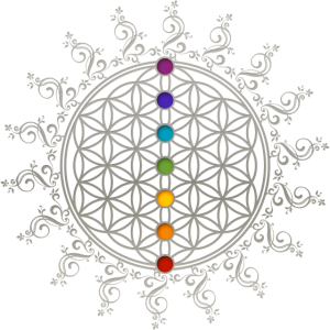Blume des Lebens Chakras Heilige Geometrie Yoga Om