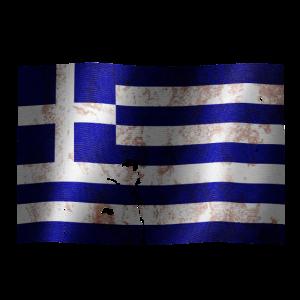 Greece Flagge ein cooles Vintage used Sport Design