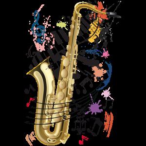 Sax, Klavier und Noten