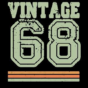Vintage 68 50th Birthday Gift T-Shirt