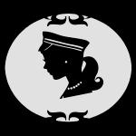 Mädel oval weiß
