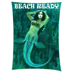 Vintage Pin-up Beach Ready Mermaid