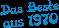 Jahrgang 1970 Geburtstagsshirt: das beste aus 1970