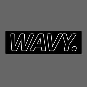 BLACK WAVY. RECTANGLE