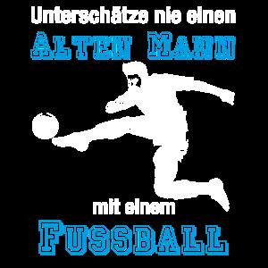 Altherren Fussball T-Shirt Alter Mann