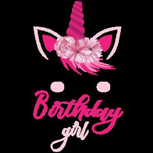 birthday girl Einhorn Geburtstagskind