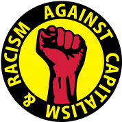3 colors - against capitalism & racism - against capitalism working class war revolution