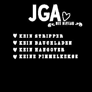 JGA mit Niveau Anti Junggesellinnen Abschied Party