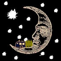 Camping RVing auf dem Mond