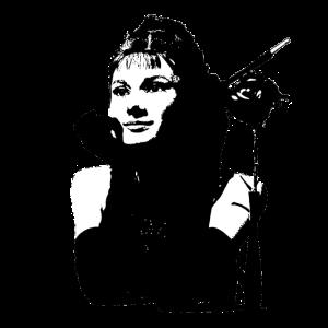 Audrey schwarz weiß