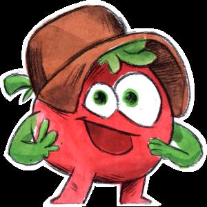 Lustige Tomate Cartoon