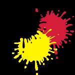 Deutschland Flagge SPLASH 3c