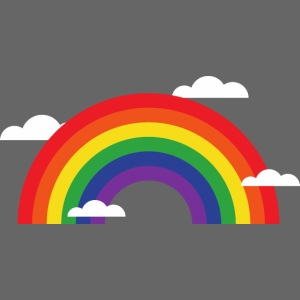 Regenbogen mit Wolken | Geschenk Idee