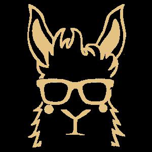 Lama Alpaka Tier Sonnenbrille Lustig Geschenk