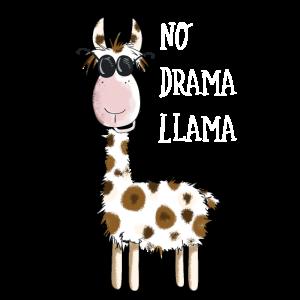 No Drama Llama - Lama Mit Sonnenbrille - Fun Comic